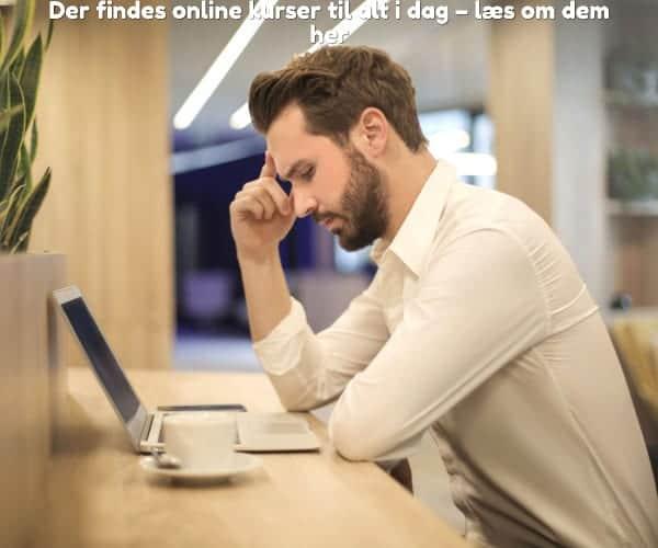 Der findes online kurser til alt i dag – læs om dem her