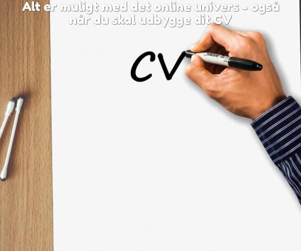 Alt er muligt med det online univers - også når du skal udbygge dit CV